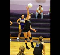 Lady Pirates' volleyball splits matches