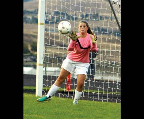 Lady Pirate keeper Jenna Evertz kept the ball out of the net 10 times against Whitefish.