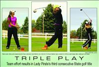Lady Pirates score third consecutive State golf title