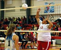 Lady Eagles fall in two