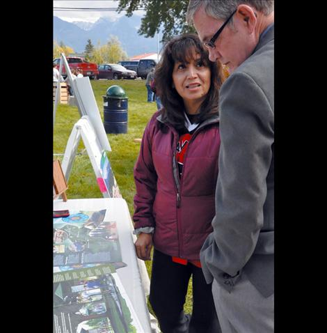 Eleanor Vizcarra talks with Kim Eldon Snyder about the proposed play pods.