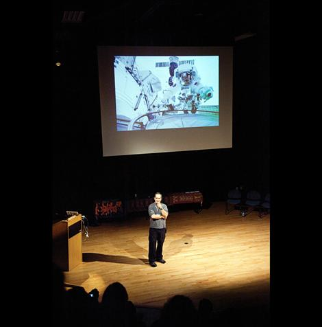 Former NASA astronaut John Herrington, enrolled member of the Chickasaw Nation, talked about his mission in space