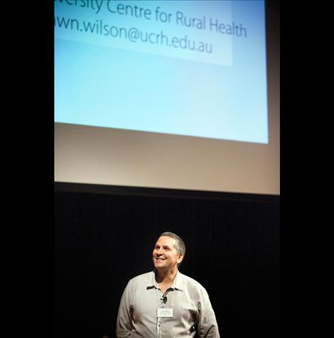 Dr. Shawn Wilson opened the first-ever American Indigenous Research Association conference, held Friday and Saturday at Salish Kootenai College in Pablo.