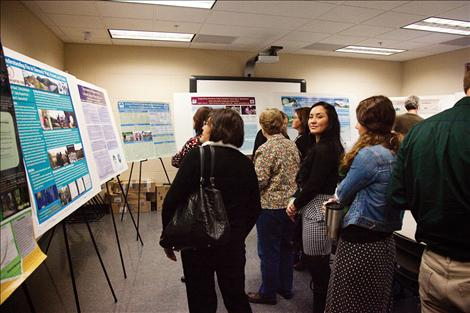 Research posters created by SKC students were on display in Allen Hibbard's classroom.