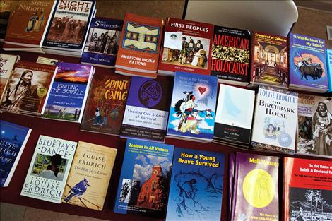SKC bookstore had a selection of books available in the Camas room in the Joe McDonald Health and Fitness facility.