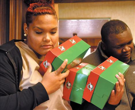 Kicking Horse Job Corps students packed shoeboxes with items to help children across the globe have a happy Christmas