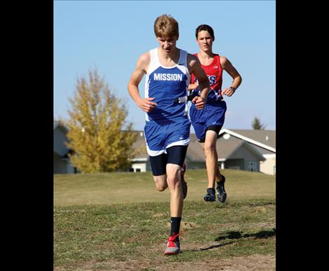 Tait Weingart led the boys with 17:57, his personal best of the season, finishing in the number 11 spot.