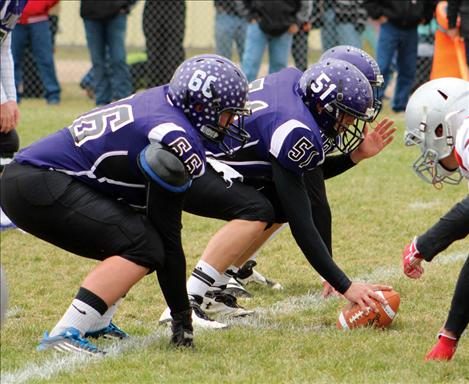 Linemen Maverick Nelson and Ryan Fullerton helped hold Twin Bridges to a scoreless game Saturday in round one of the playoffs.