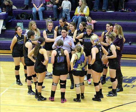 Polson Lady Pirate volleyball team