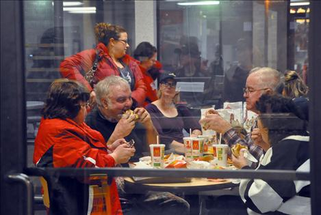 McDonald's patrons enjoy  their dinner even more as a portion of the cost was donated during a fundraising event for K. William Harvey Elementary School.