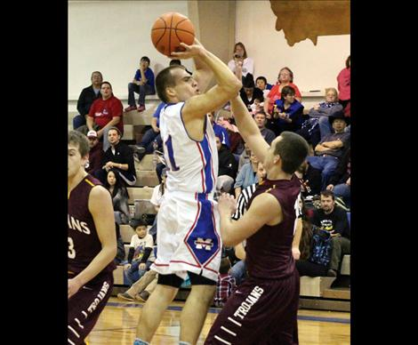 Stuart Grant of Mission scored 21 points in the Bulldogs' 64-46 win over Troy.