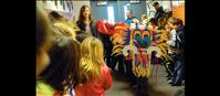 Dragon parades at Linderman in celebration of Chinese New Year