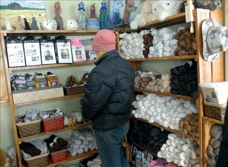 Alpaca yarn is for sale at Black Wolf Ranch, as are items knitted and woven from the soft fibers.