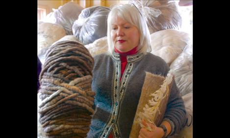 Black Wolf Ranch owner Wendy Tyler raises alpacas with her husband Bret, turning the fleece into soft skeins of yarn.