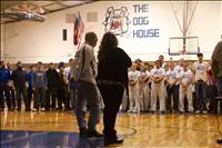 Coach Rice honored for 34 years of service