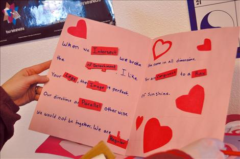 Valley Journal Students Write Love Notes To Geometry