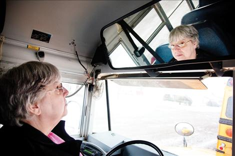 For 18 years, Cindy Paulsen has driven a school bus in Charlo.