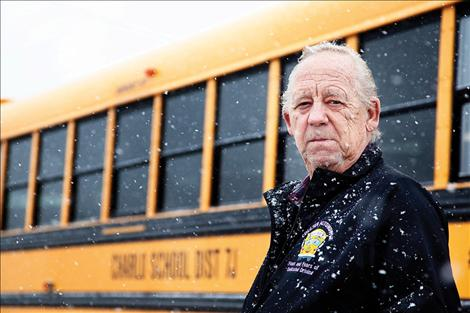 Clyde Olsen has driven Charlo schoolchildren around for more than 30 years.