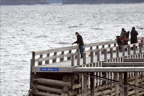 Anglers fish for lake trout during Spring Mack Days on Flathead Lake.