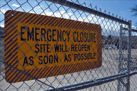 Unexploded blasting caps temporarily shut down the North Valley Creek container site April 2.