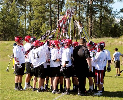 The 10 Sticks Lacrosse team beat the Big Sky Eagles Thursday in Pablo, and have their sights set on winning State.