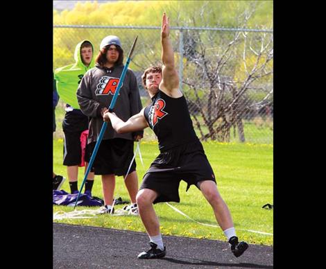 Ronan Chief Lucas Gebhardt placed first in javelin, landing a 160-8.
