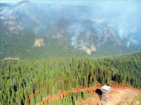 The Schley Creek fire remains relatively inactive at 88 acres, according to the Confederated Salish and Kootenai Tribes Division of Fire.