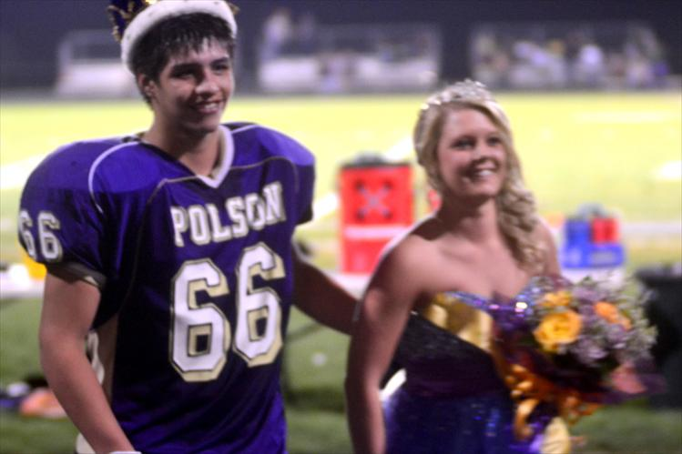 Marlin Burke and Chelsea Chowning are crowned homecoming king and queen.