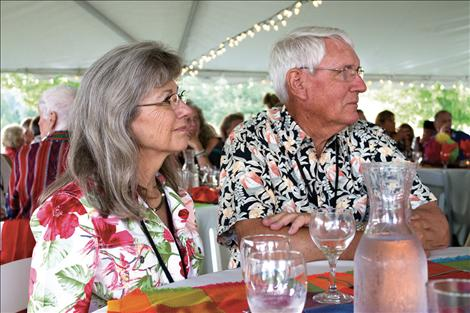 David and Cynthia Waterman enjoy the dinner and auction at the Greater Polson Community Foundation's Annual Celebration: Viva Polson.