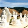 Visitors took laps around 1,000 Buddha statues.
