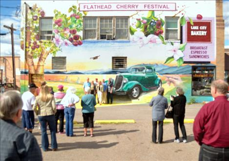 Valley journal polson community dedicates mural for Crowd wall mural