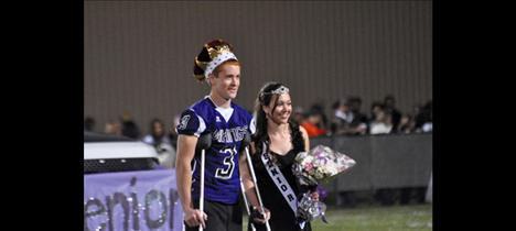 Michael Delaney and Courtney Vaughan are crowned as Charlo's Homecoming King and Queen.
