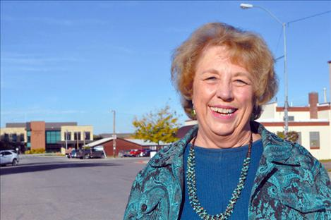 Bille Lee stands on Main Street in Ronan after working in the town for 20 years.