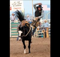 Montana bronc riders compete in Cinch event