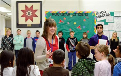 Emily Bradford of Missoula Children's Theater auditions students in Arlee.