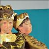 Sajada Lee and Jace Matt play crocodiles in the MCT play in Mission.