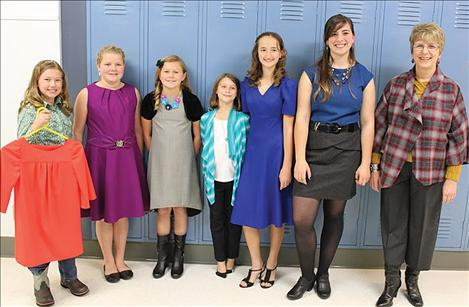 """Make it With Wool"" contestants, from left, include Brooklyn Kenelty, Kiara Sherman, Hailey Hakes, Brogan Youngren, Morgan Brooks, Alyssa Liddle and MichalAnn Stedje."