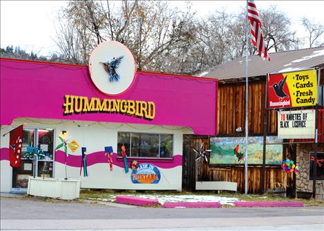 Bright colors, whirligigs and 70 flavors of black licorice draw visitors to the Hummingbird in Arlee.