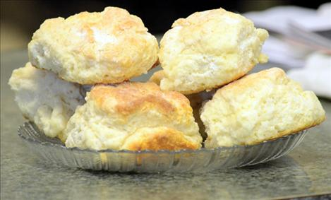 Judy Morton, owner of The Biscuit in Arlee, bakes her famous biscuits daily in a storefront built in 1908.