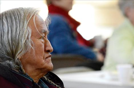 Stipn Smallsalmon, left, hopes the elders can continue getting together to share stories.