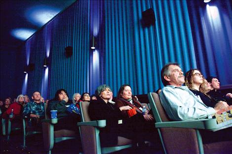 All eyes are fixed on the movie screen, absorbed in one of more than 90 films shown during the festival.