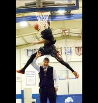 Above and Beyond: Slam dunk star inspires students
