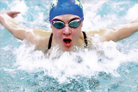 Maggie Todd picked up a bronze medal in the 50 butterfly at last weekend's state meet.