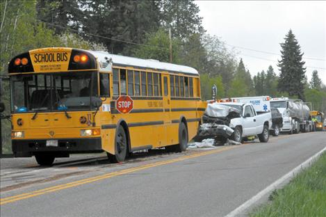 Students and the driver escaped serious injury from a bus crash on Highway 35 in Polson.