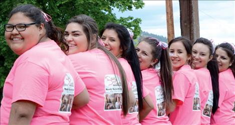 Spur the Cancer team supporters wear their shirts to the fundraiser for Mandy Haynes-Belcourt.