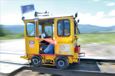 """Railcars can reach 35 mph, earning the nickname """"speeders."""""""