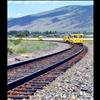 "Railcars nicknamed ""speeders"" travel on Montana Rail Link line south of Arlee."
