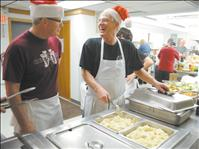 Christmas dinner dished out to hundreds