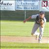 Jacob Harrod scrambles to stopthe ball during this weekend's district tournament.