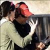 Berl Tiskus/Valley Journal  Miss Montana USA Tahnee Peppenger discusses guns with Carolos Rodriques at a Women on Target event.